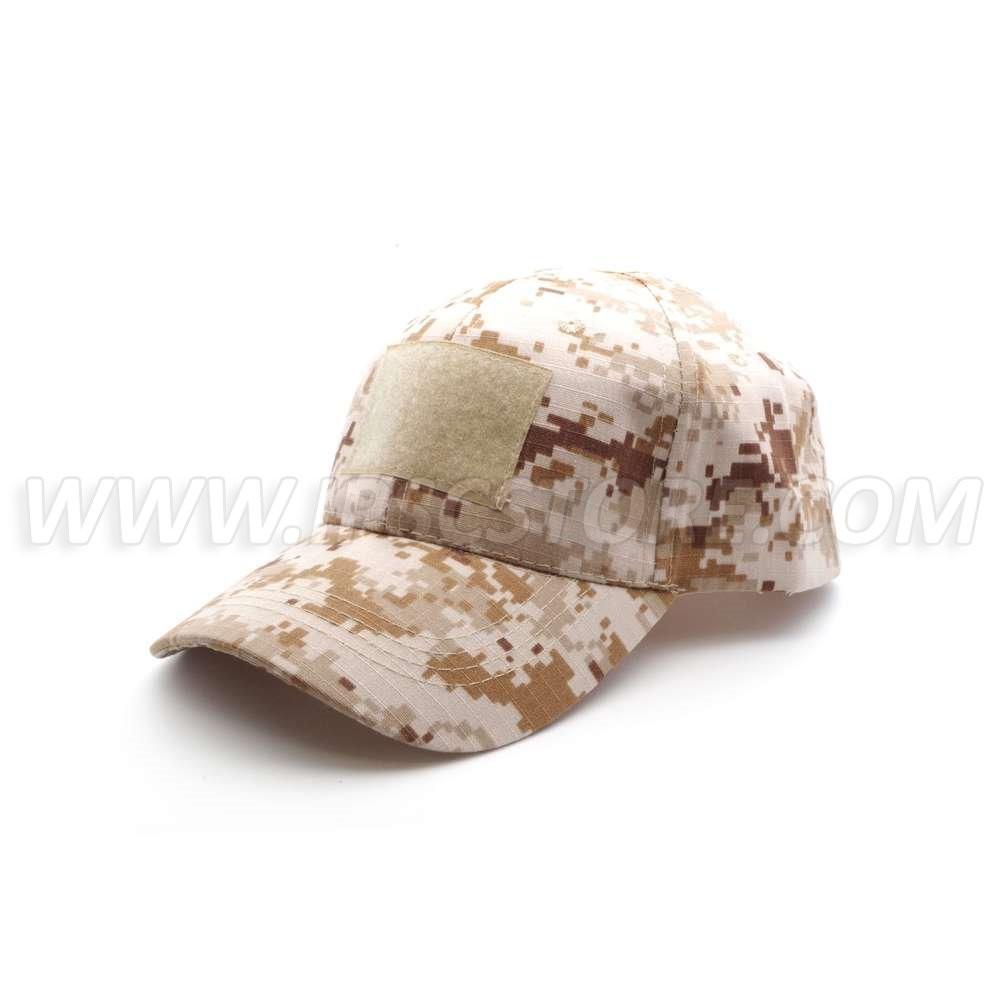 Tactical Cap with 3 Velcro Desert Digi Camo