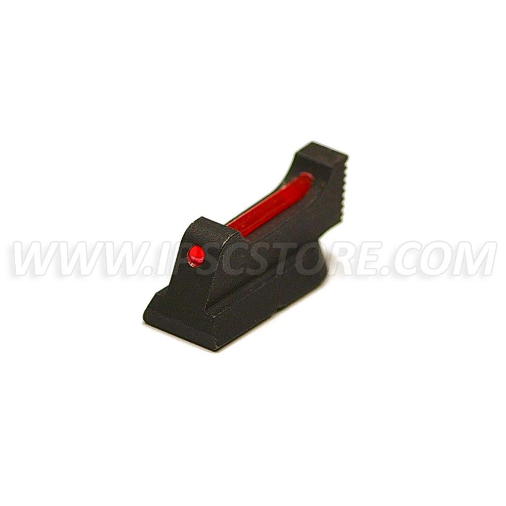 Eemann Tech Guidon pour CZ 75, CZ SHADOW 2, Checkered, 1mm Tige de Fibre Optique