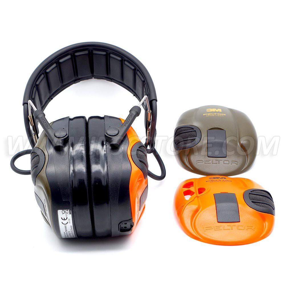 3M™ PELTOR™ SportTac™ Hearing protection Orange/Green MT16H210F478GN