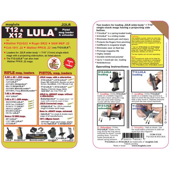 X12-LULA™ & T12-LULA™ – .22LR