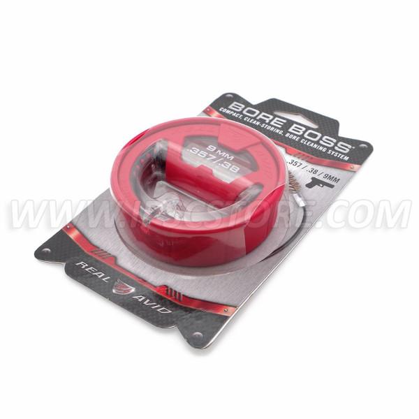 REAL AVID AVBB9MM Bore Boss® Rope Cleaner For Caliber 9mm/.38/.357
