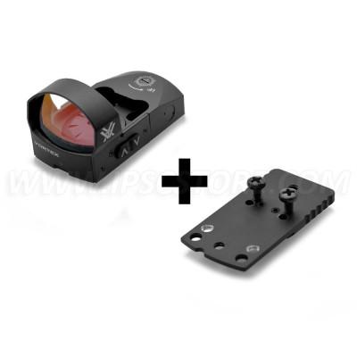 COMBO: Vortex VMD-3106 Venom Red Dot Sight 6 MOA + Red Dot Mount for Glock