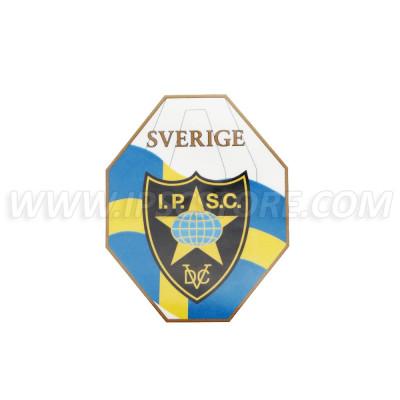 Swedish IPSC Region Sticker, Small