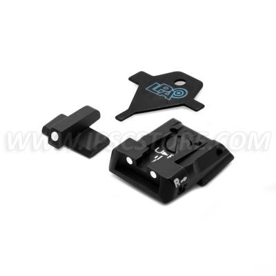 LPA SPS01HK30 Σέτ σκοπευτικών οπλοφορίας για H&K P30/P45/SFP9 με Λευκές κουκίδες
