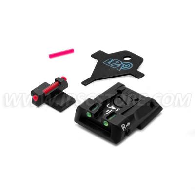 LPA SPF01HK Adjustable Sight Set for H&K P30/P45/SFP9 with Fiber Optic