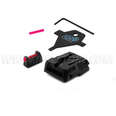 LPA SPS06CZ6F Sport Sight Set with Fiber Optic Front for CZ SP01 SHADOW, CZ SHADOW 2
