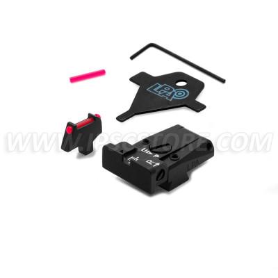 LPA SPR80CT7F Adjustable Sight Set for COLT SERIES 80 with Fiber Optic Front