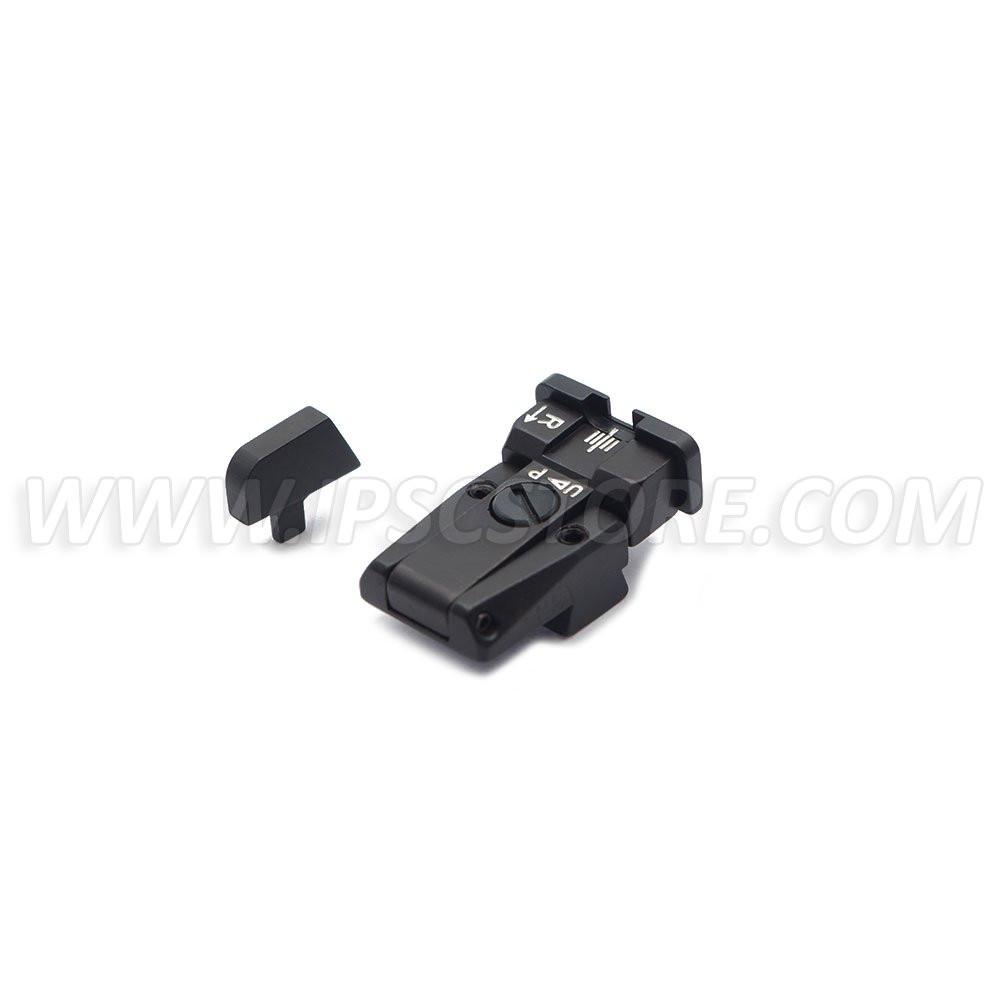 LPA SPR75CZ30 Adjustable Sight Set for CZ 75 (Brno Old Model) with White Dots