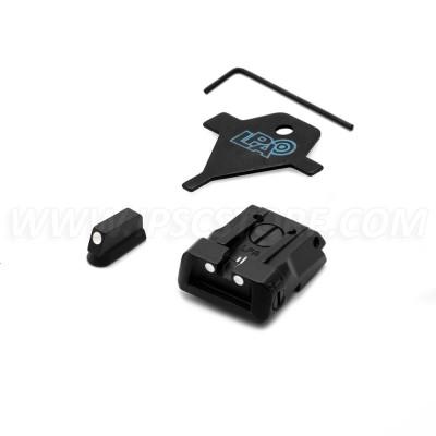 LPA SPS06CZ30 Adjustable Sight Set with White Dots for CZ SP01 SHADOW, CZ SHADOW 2