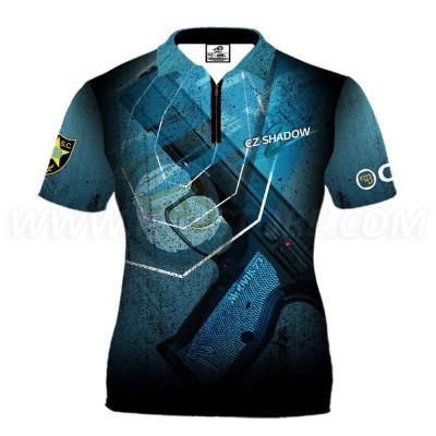 DED Women's CZ Shadow2 Blue T-shirt