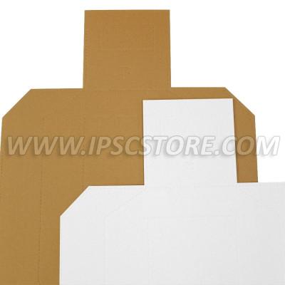 Χαρτινος στόχος μετρικός Άμμου/Λευκός 50 pcs./ Pack