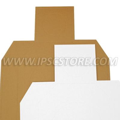 Cardboard IDPA Target TAN/WHITE 50 pcs./ Pack