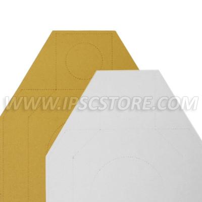 Cardboard Alternative IDPA Target TAN/WHITE 10 pcs./ Pack