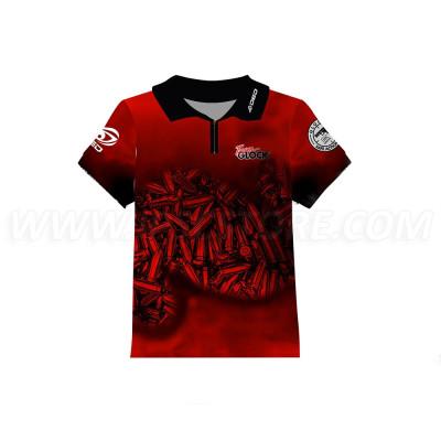 DED Children's Team Glock T-Shirt Red