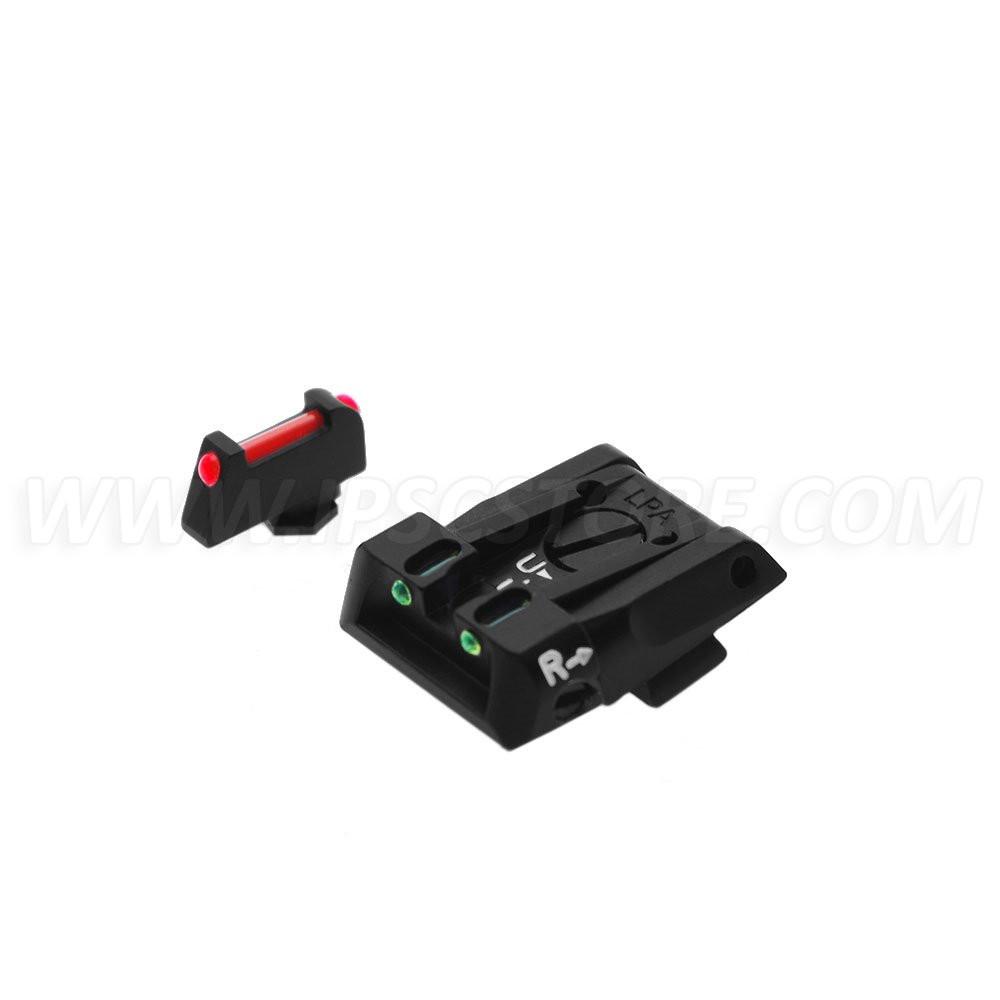 LPA SPF16GL Sight Set for GLOCK with Fiber Optic