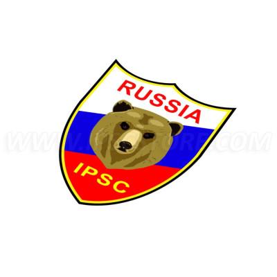IPSC Russia Sticker - 9cm