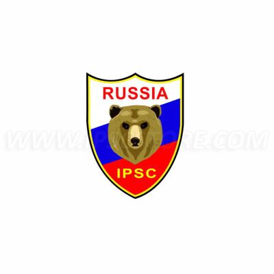 IPSC Russia Sticker - 4,5cm