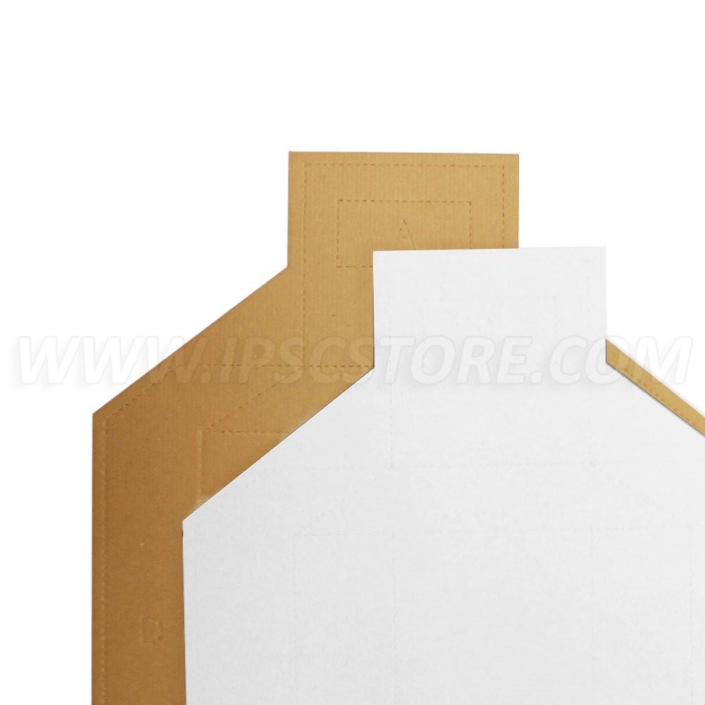 Cardboard Tactical Target TAN/WHITE - 100 pcs./pack