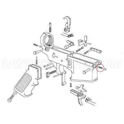 Eemann Tech AR-15 Pivot Detent Spring