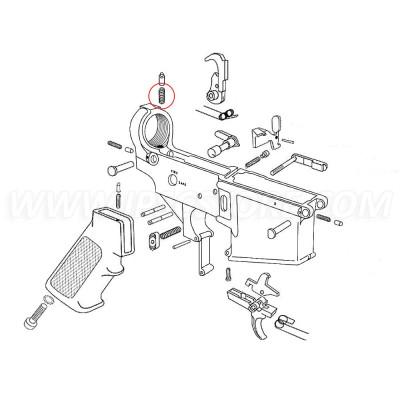 Eemann Tech AR-15 Recoil Buffer Retainer Spring