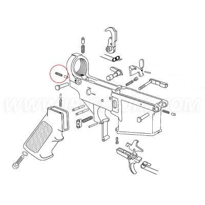Eemann Tech AR-15 Takedown Detent Spring