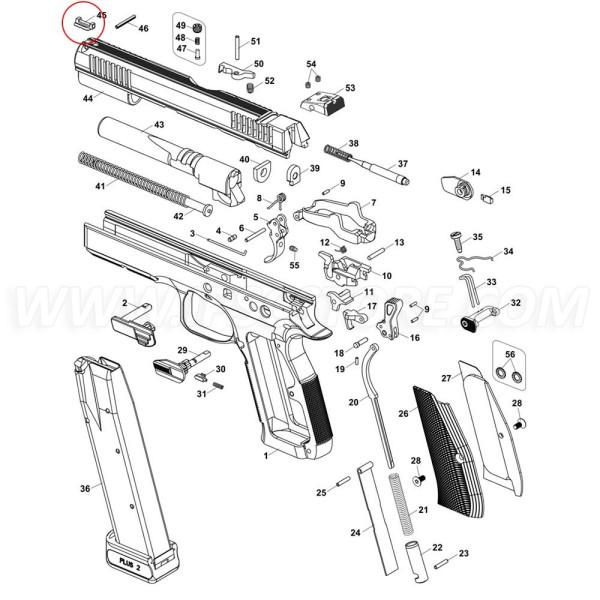 Мушка оптоволоконная для CZ Shadow 2