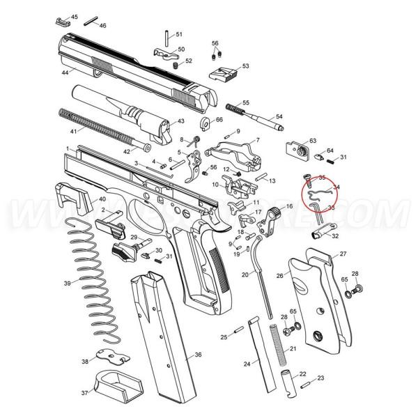 CZ SP-01 Trigger Bar Spring
