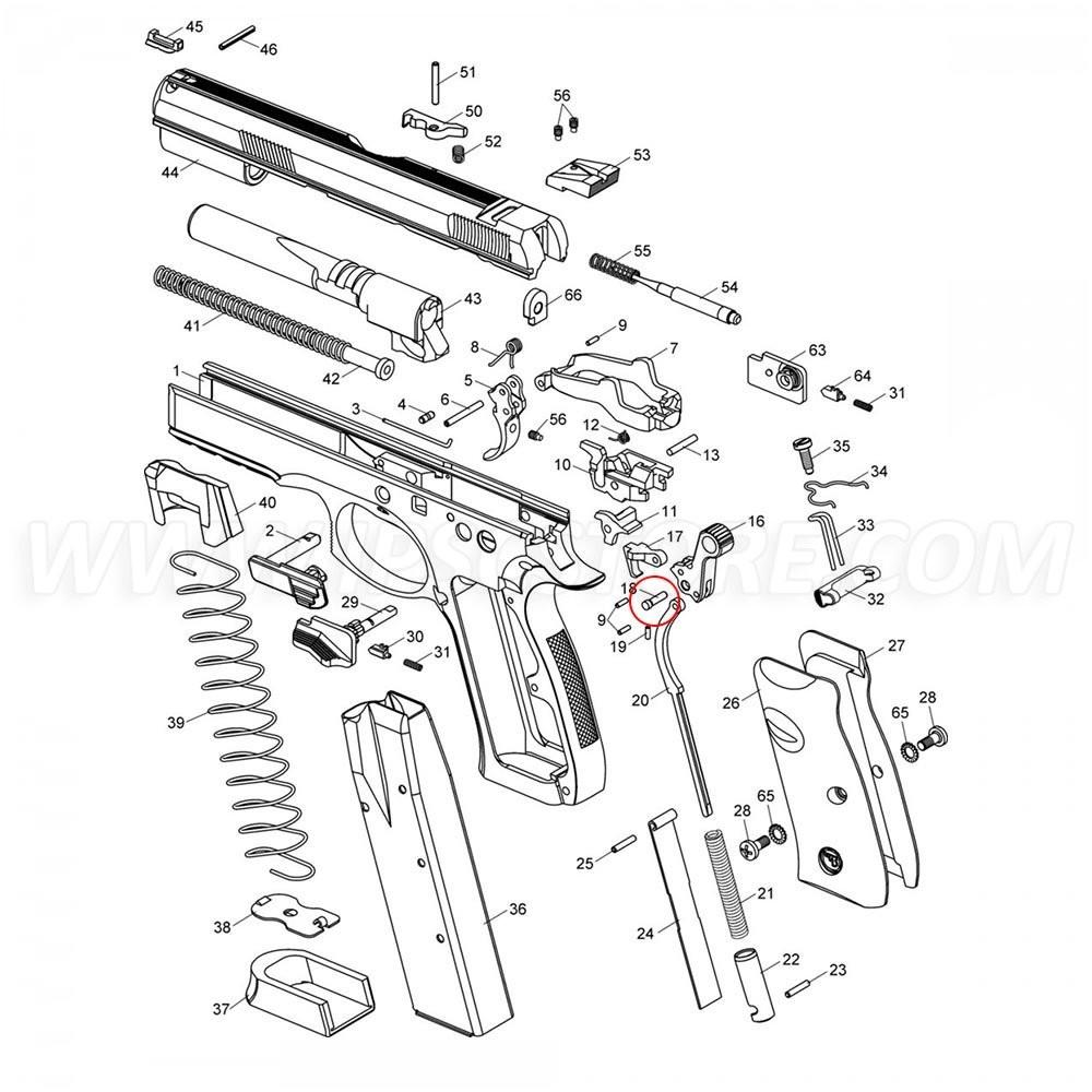 CZ SP-01 Hammer Pin