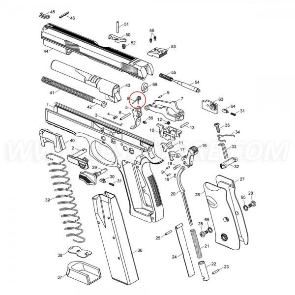 CZ Trigger Spring for CZ SP-01, CZ SHADOW 2, CZ P-07 DUTY