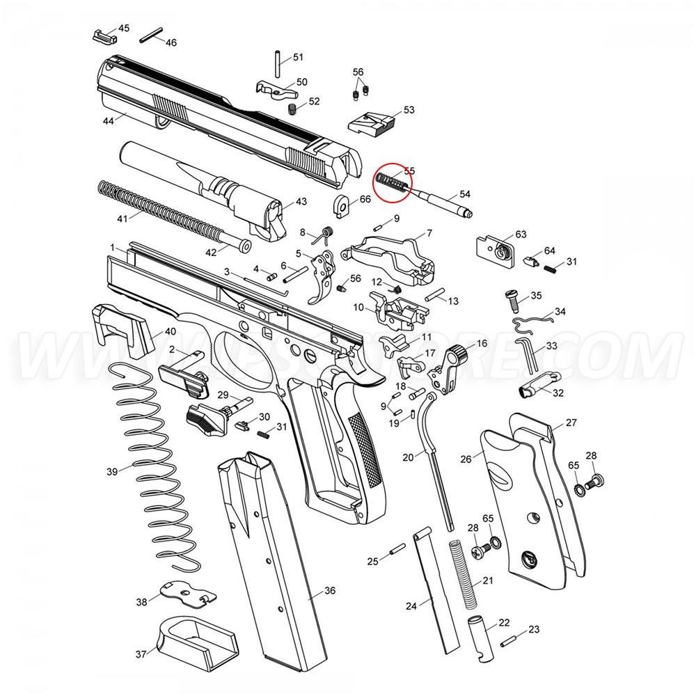 CZ SP-01 Firing Pin Spring