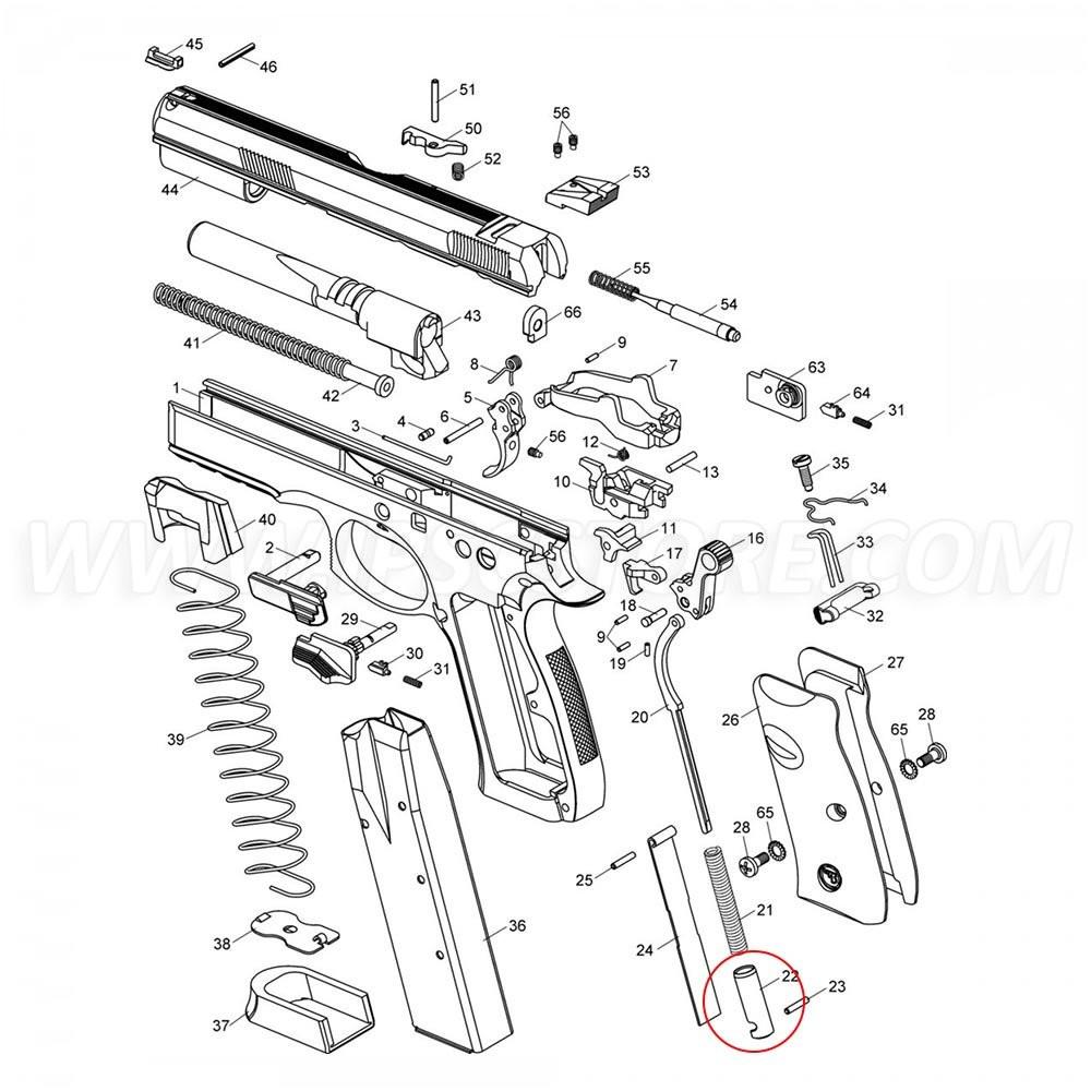CZ SP-01 Main Spring Plug