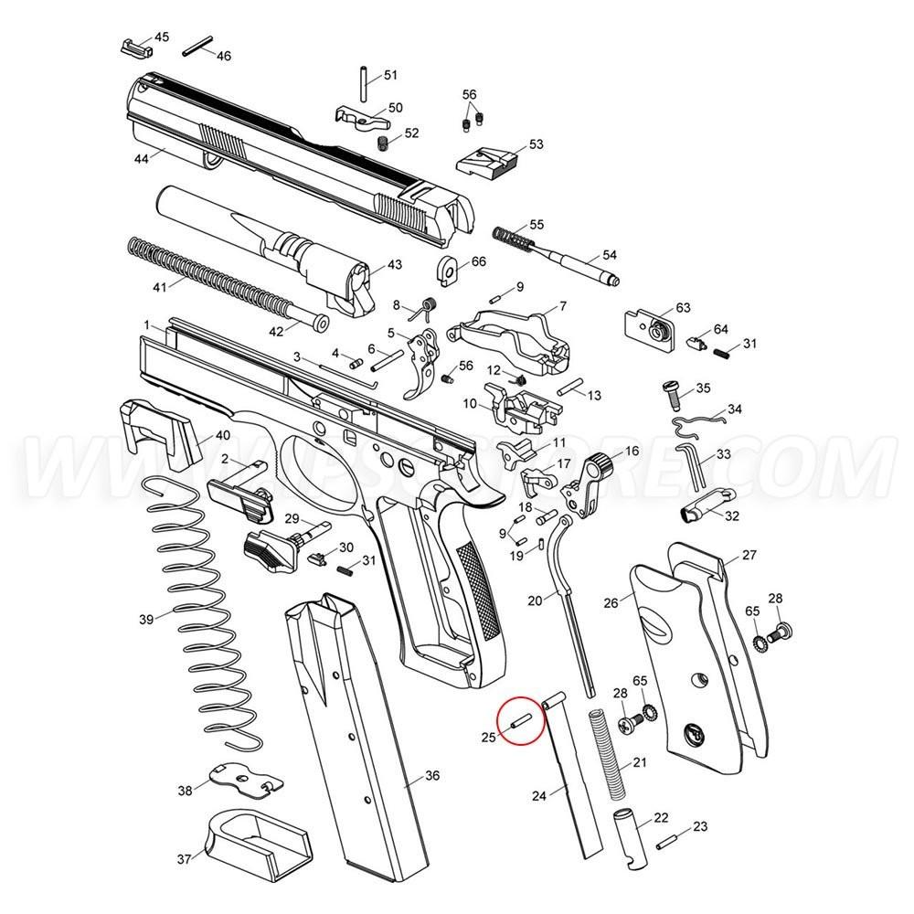 CZ SP-01 Magazine Brake Pin