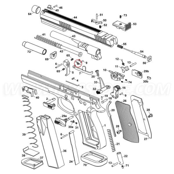 CZ 75 TS Trigger Spring