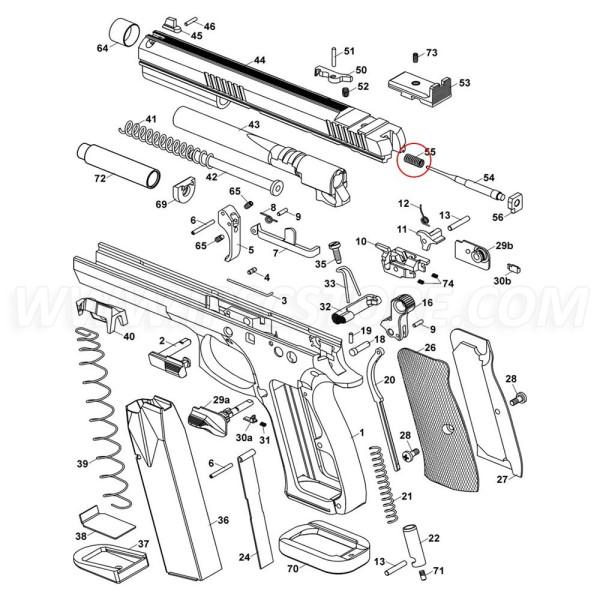 CZ 75 TS Firing Pin Spring