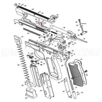 CZ 75 Kadet Extractor Spring