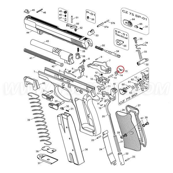 CZ 75 Firing Pin Block Lever Spring