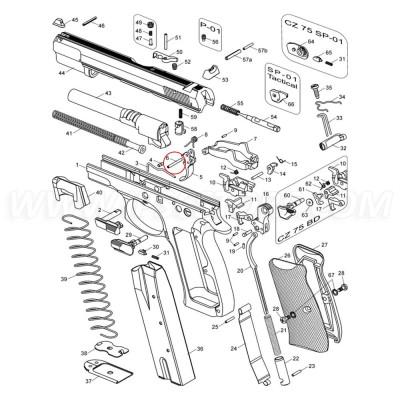CZ 75 Trigger Pin