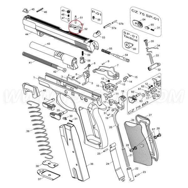CZ 75 Extracteur