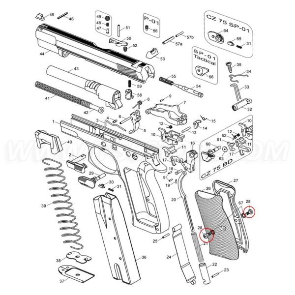 CZ 75 Grip Panel Screw