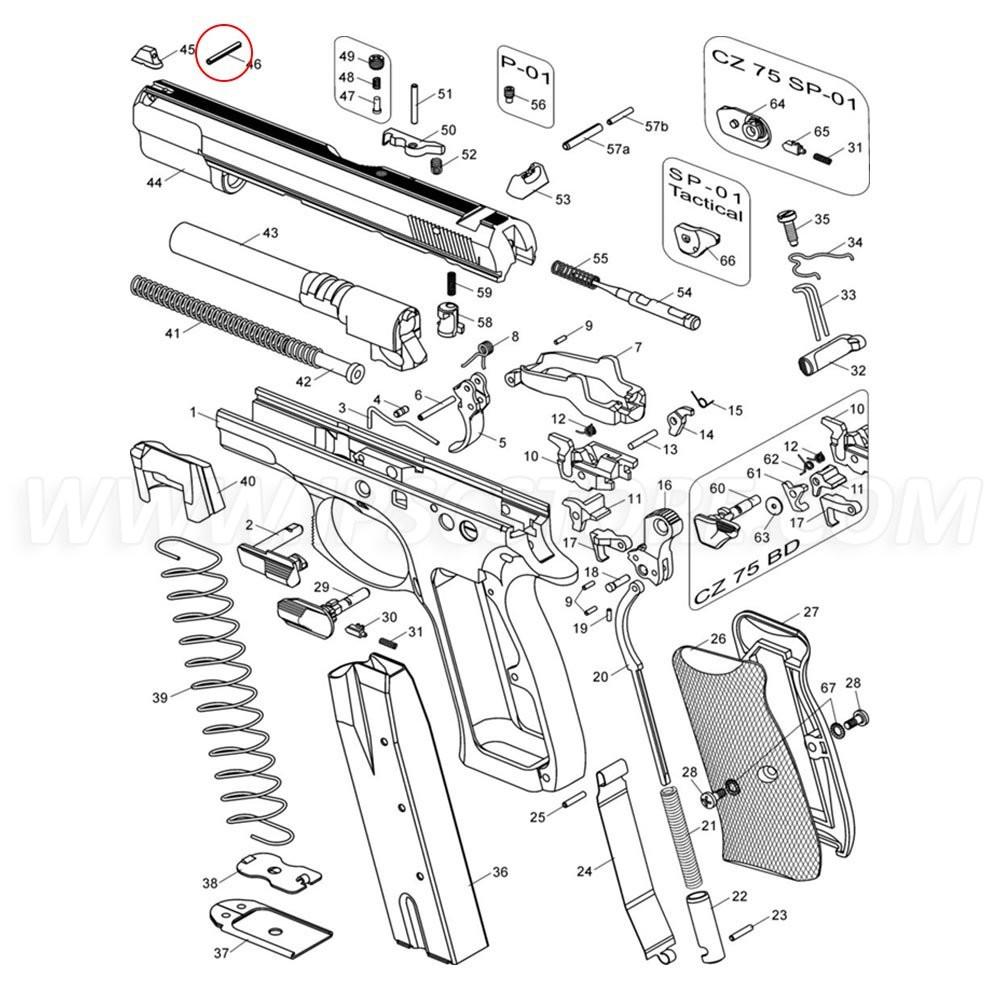 CZ 75 Front Sight Pin