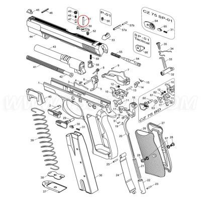 CZ 75 extractor rögzítő tüske