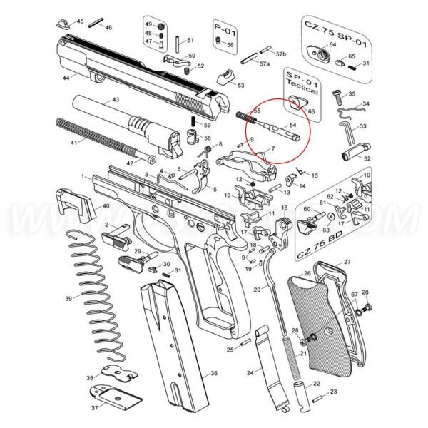 CZ 75 Firing Pin with Block