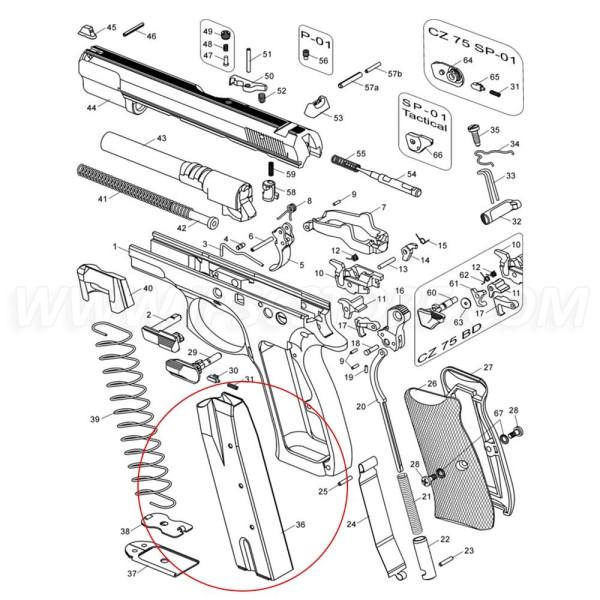 Магазин MEC-GAR для CZ 75, 9x19мм / .40S&W