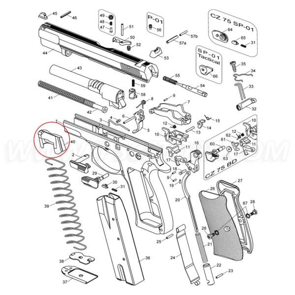 Teja de Cargador para Cargador MEC-GAR CZ 75 19 Mun.