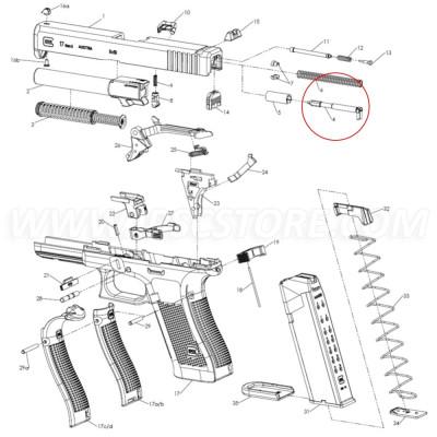 GLOCK 36618Firing Pin forG17 GEN5, G19 GEN5, G19X, G26 GEN5, G34 GEN5MOS