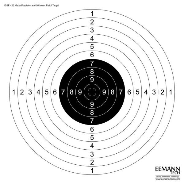 Eemann Tech ISSF 25M Precision & 50M Pistol Target