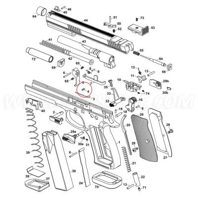 CZ 75 TS Slide Stop Spring Pin