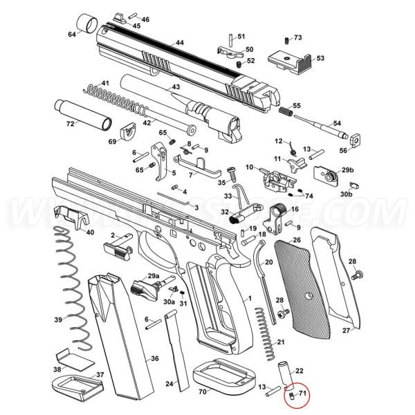 CZ 75 TS Main Spring Plug Pin