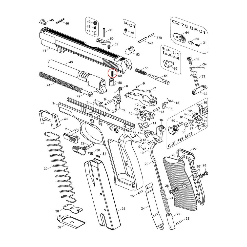 CZ 75/85 Firing Pin Block Stop Spring