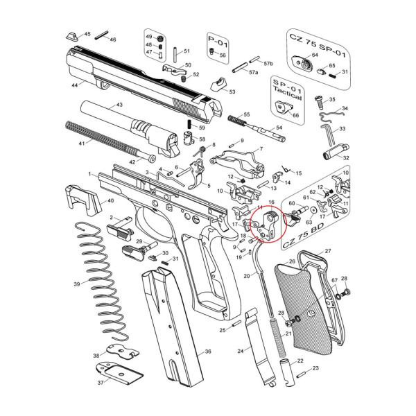CZ 75/85/85Combat/97 Hammer